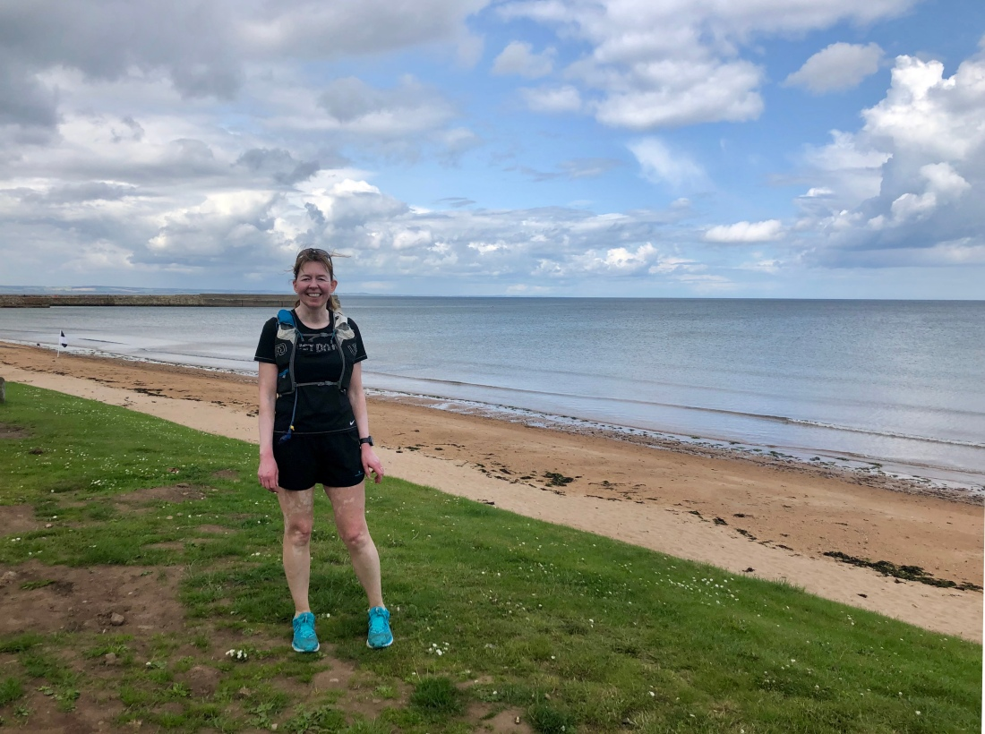 Clare, happiest outdoors: in St Andrews