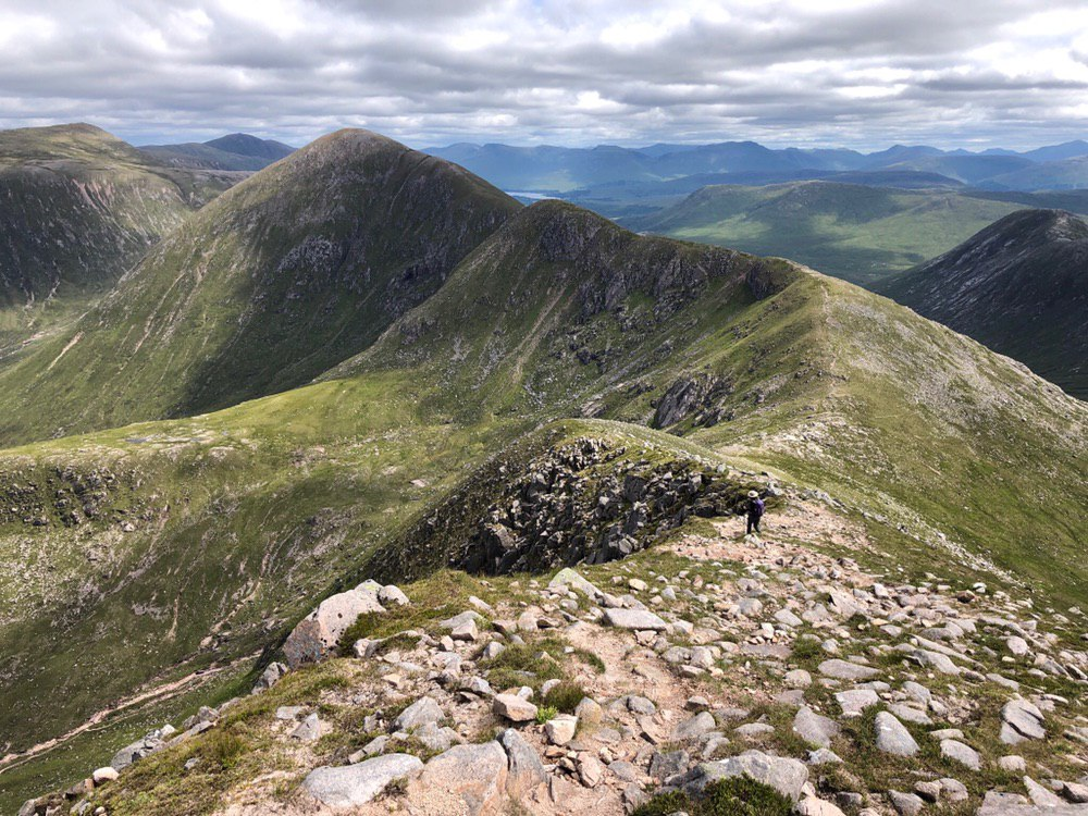 On route to Glas Bheinn Mhor from Ben Starav