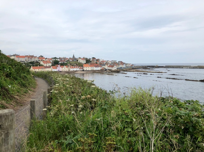 Fife Coastal Path heading along to Pittenweem