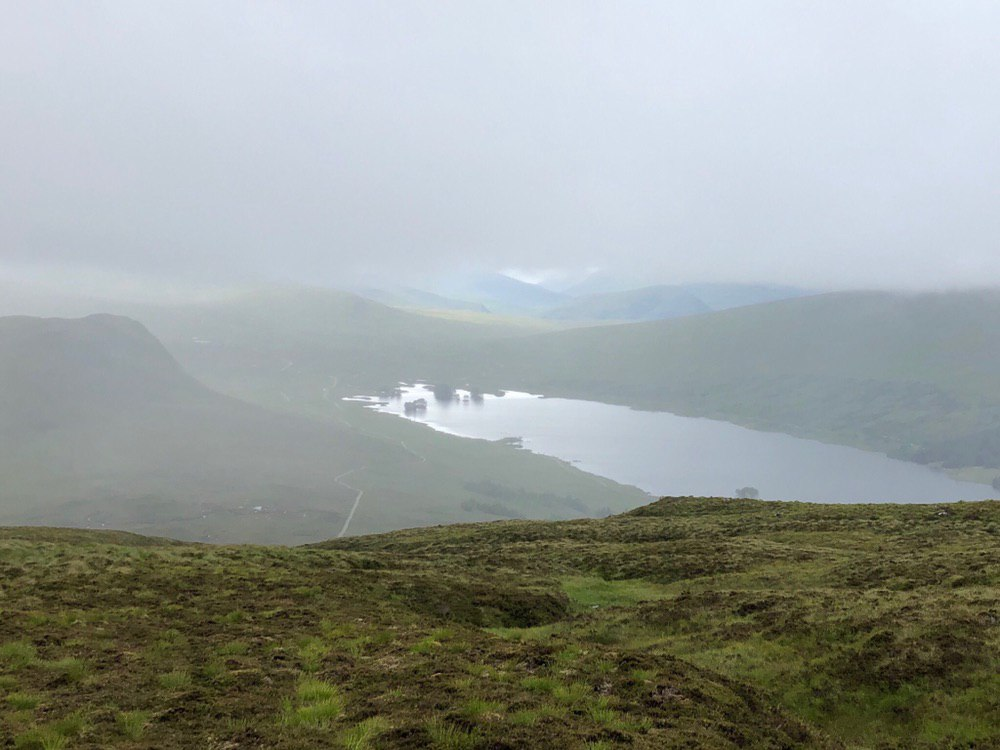 Heading down from the Corrour munros to Loch Ossian