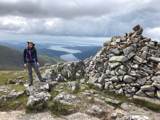 Summit cairn of Beinn Sgulaird