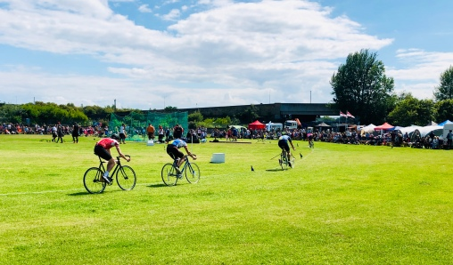 Cycle races at Burntisland Highland Games