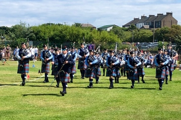 Scottish Pipe Band at Burntisland Highland Games