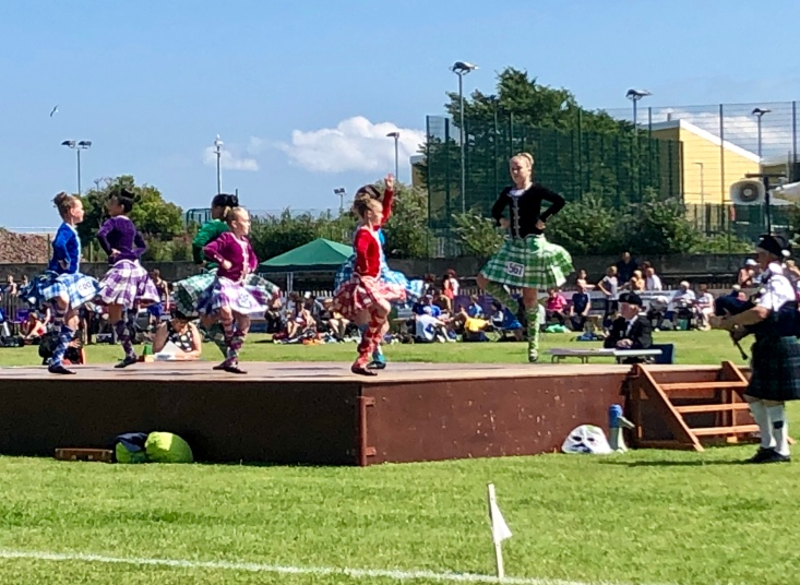 Highland dancing at Burntisland Highland Games