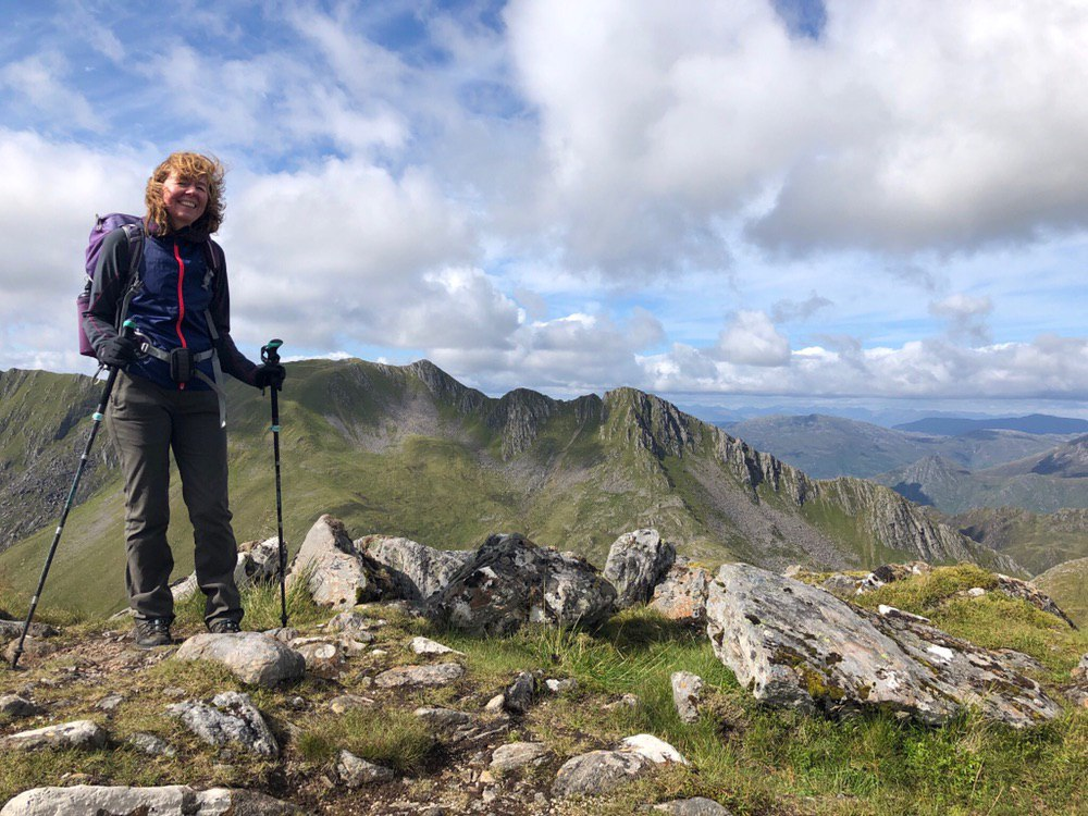 On the ridge of Sgurr na Sgine, The Saddle behind