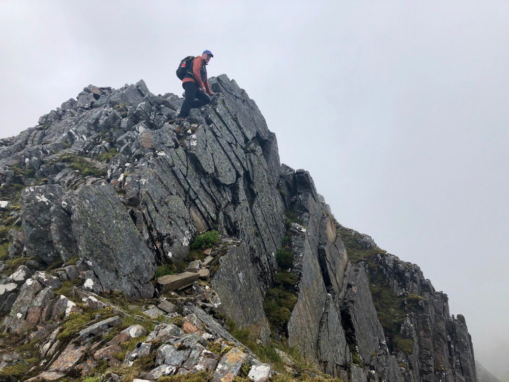 Heading up to the summit of The Saddle