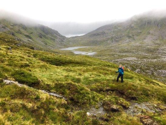 Loch on route to Eididh nan Clach Geala