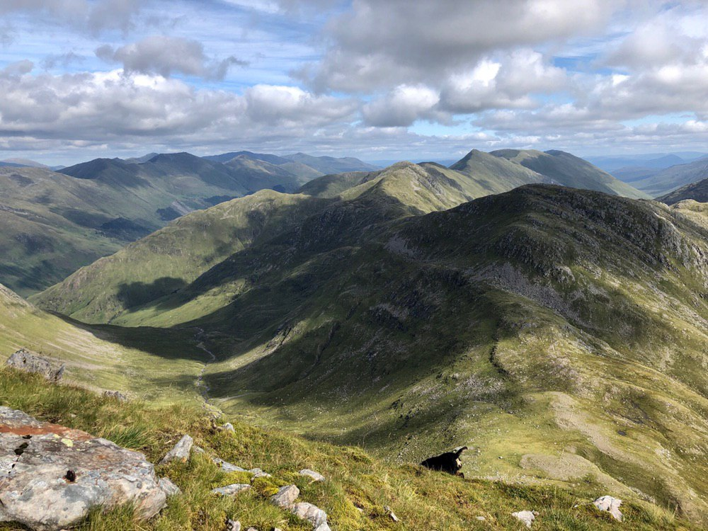 South Glenshiel Ridge from Sgurr na Sgine