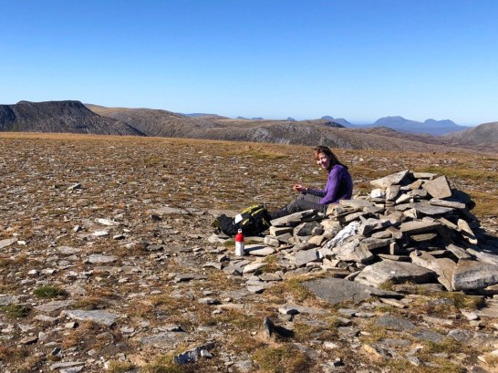 Summit cairn on Am Faochagach