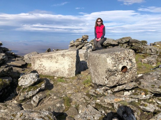 Broken trig point on Ben Kilbreck