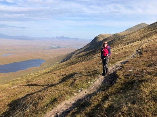 Good path along the traverse to Ben Kilbreck