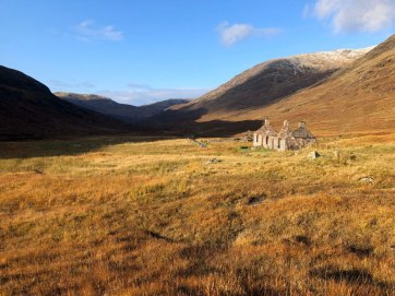 Derelict Cottage on the West Highland Way between Kinlochleven and Fort William