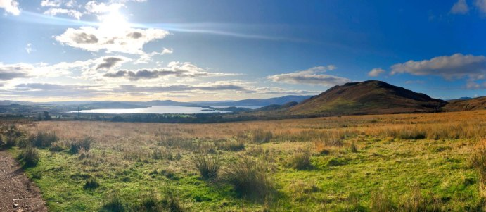 Approaching Conic Hill and Loch Lomond, West Highland Way