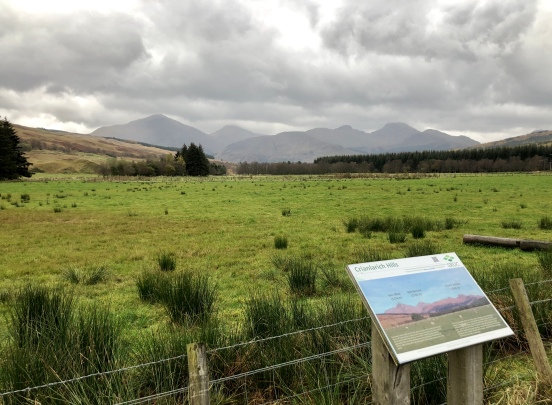 View of the Crianlarich Hills from the West Highland Way