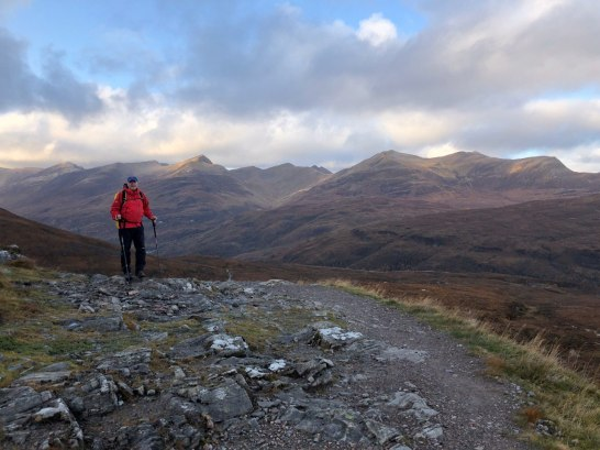 West Highland Way, heading from the Devil's staircase to Kinlochleven