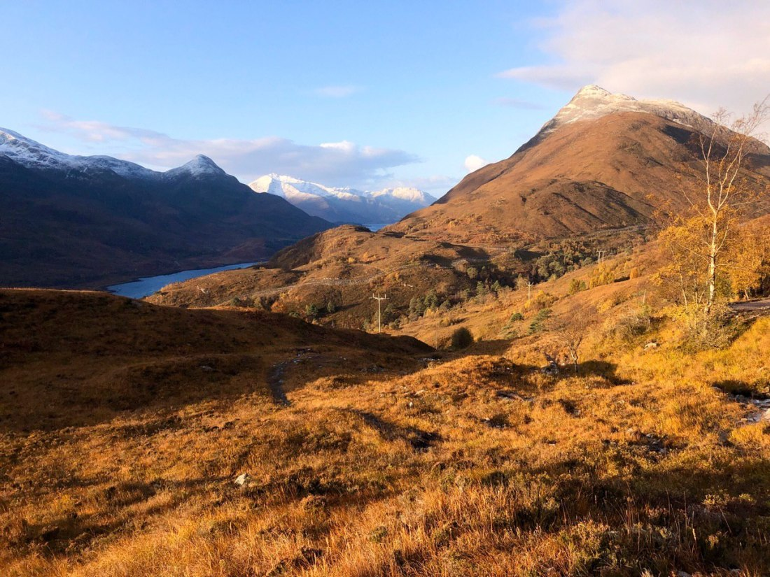 Leaving Kinlochleven on the West Highland Way