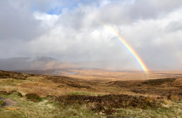 Rainbow on West Highland Way, Bridge of Orchy to Kingshouse