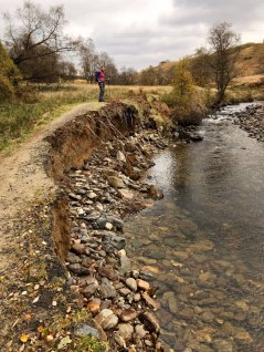 Recent flood erosion on the West Highland Way