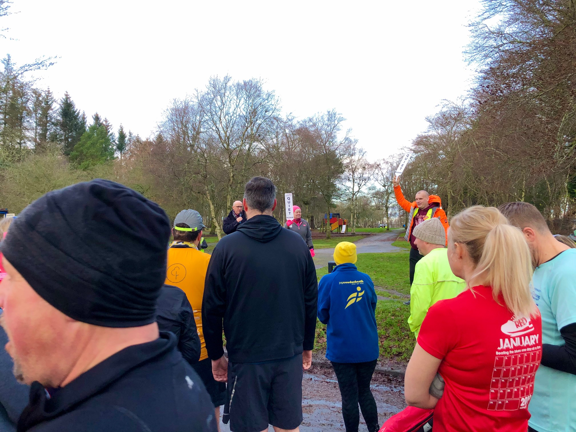 Briefing at Hazlehead parkrun