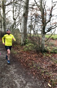 Front runner at Hazlehead parkrun