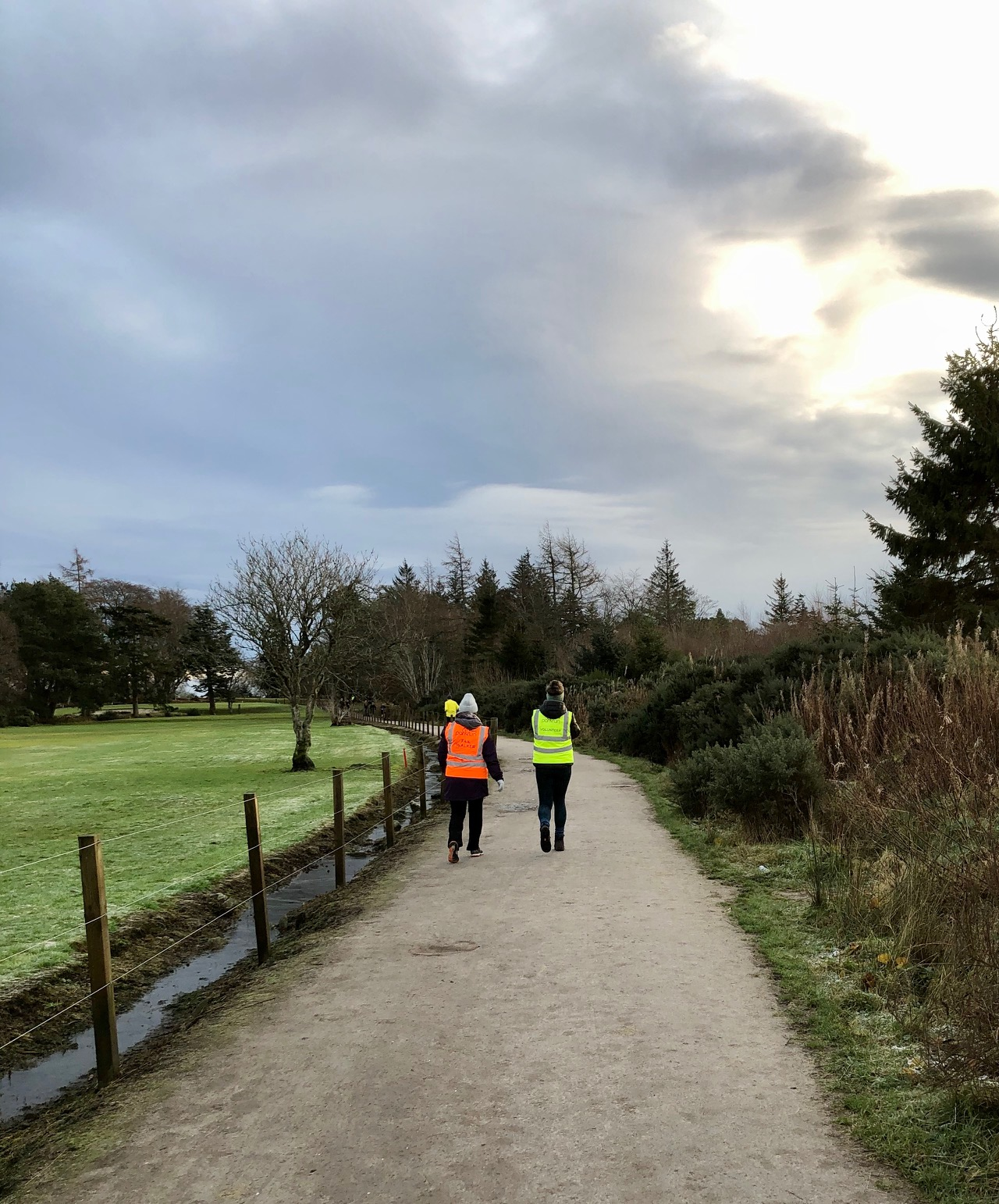 Tail walkers at Hazlehead parkrun