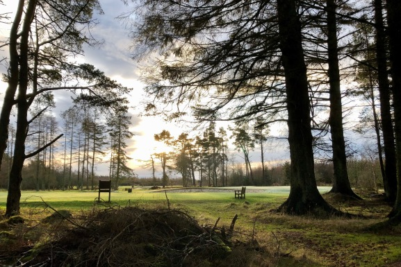 Stunning view of the golf course at Hazlehead from the parkrun