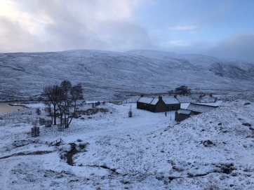 Overlooking Loch Callater & the bothy