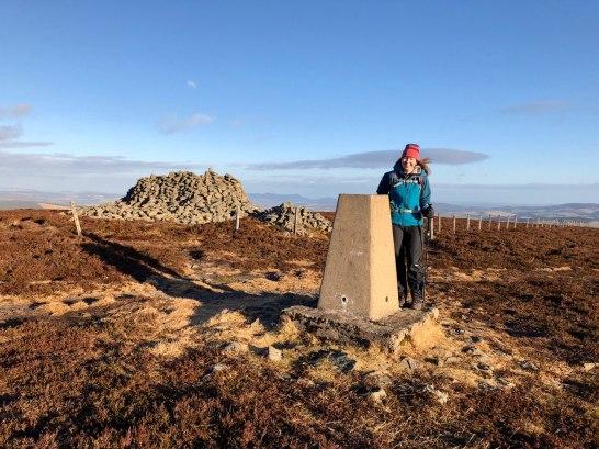 Trig Point and Windshelter Cairn, Pressendye