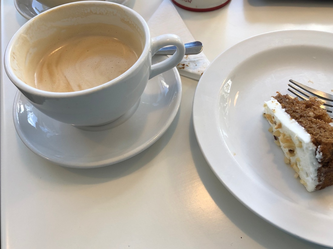 Delicious gluten free carrot cake at Ride Coffee House, Banchory