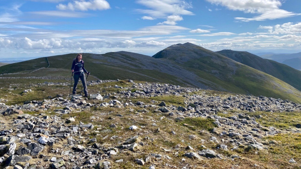 Leaving Creag Leacach behind on the Glas Maol circuit